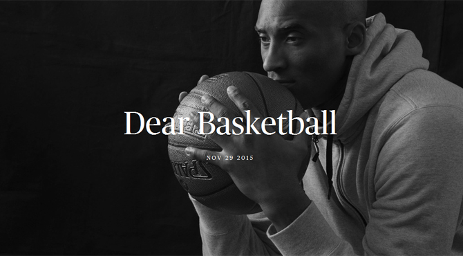 Dear Basketball - Kobe Bryant