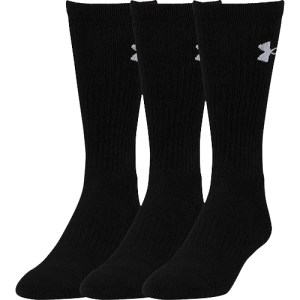 Under Armour Elevated Performance Crew Sport Socks Black