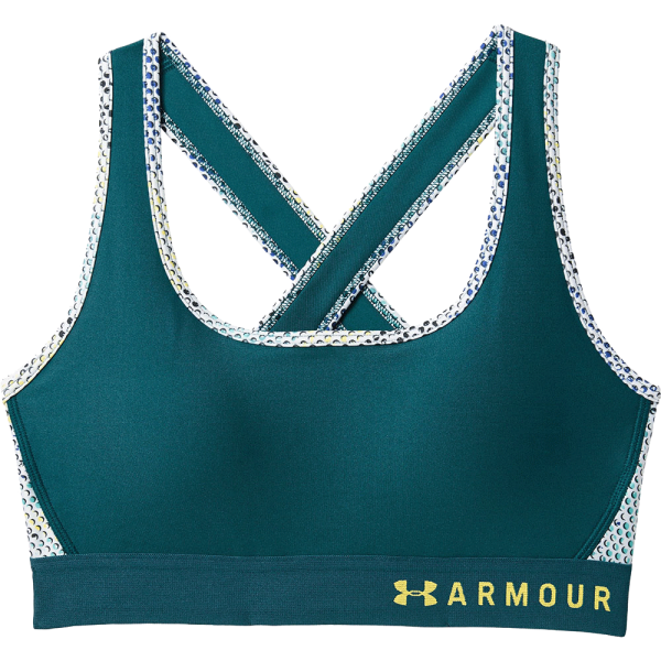 Women's Under Armour® Mid Crossback Print Sports Bra Teal