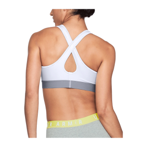 Women's Under Armour® Mid Crossback Sports Bra White